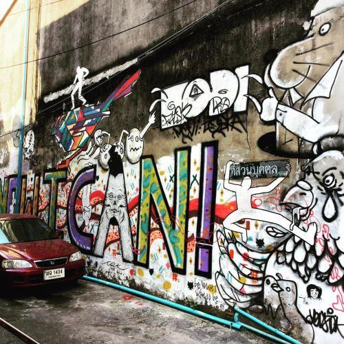 papanasia:  Такой Бангкок! #бангкок #Таиланд #граффити #улицы...