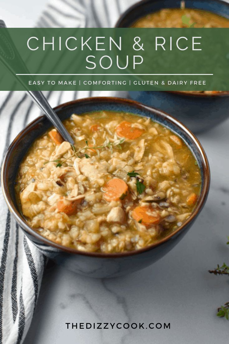 Chicken And Brown Rice Soup Recipe Soup Recipes Chicken