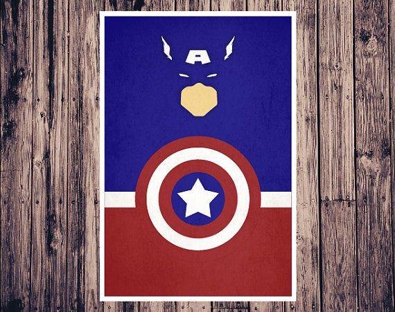 Minimalist Classroom Games ~ Minimalist captain america poster avengers marvel