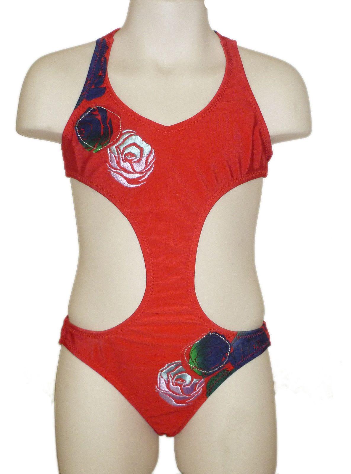 Freebily Kids Junior Girls Two Piece Skirted Swimsuits Striped Tankini Set Swimming Costume Swim Dress