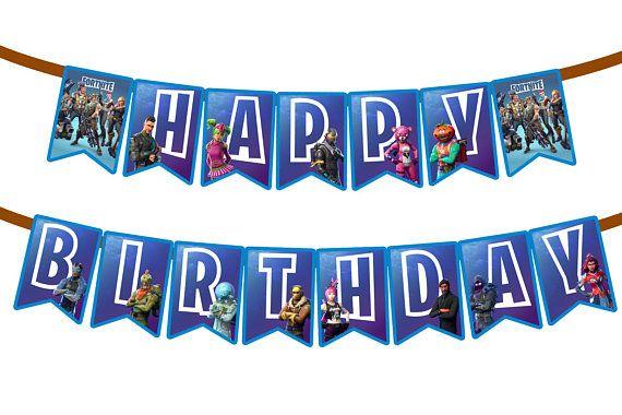 fortnite birthday banner fortnite flag pennant party badge - fortnite alle banner