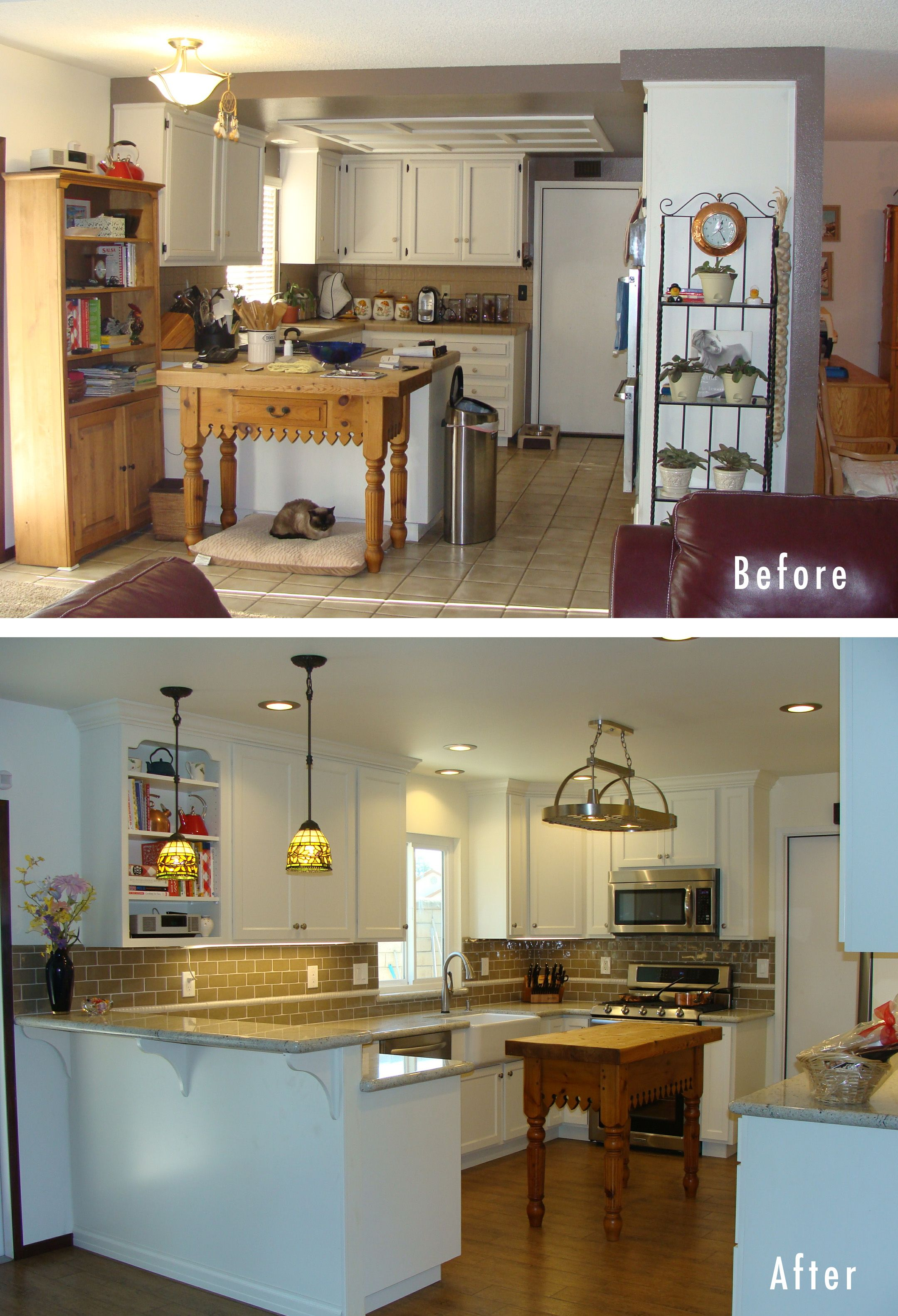 home remodel before and after this kitchen remodel was completed in santa maria kitchen on kitchen renovation id=89645