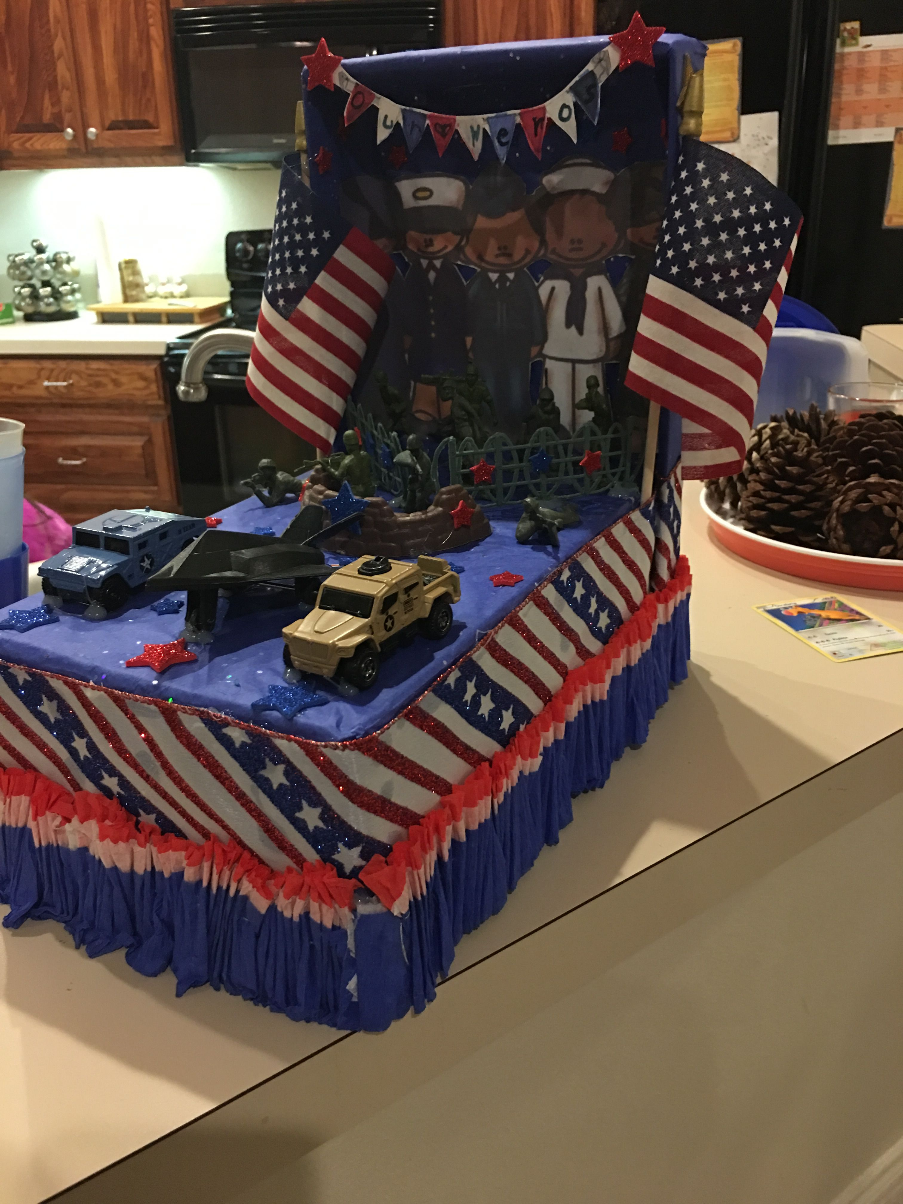 Shoe Box Parade Float For Veterans Day First Grade