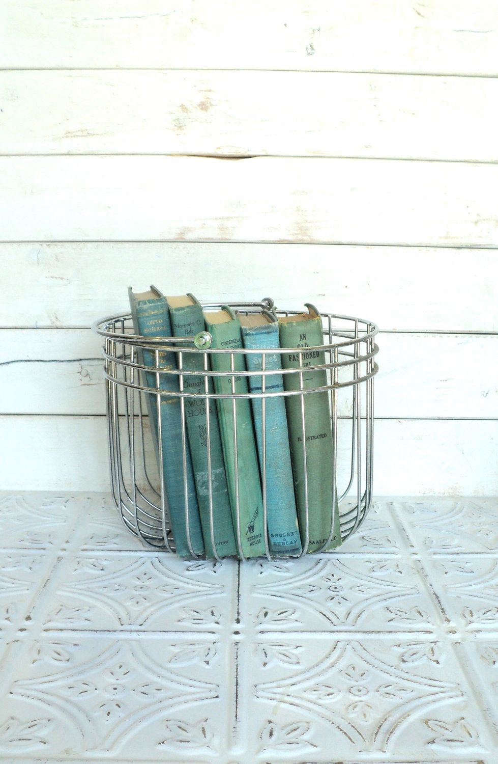 Pastel Green, Aqua  Books Instant Library Collection Decorative Books Photography Props Shades of Sea Glass. $28.00, via Etsy.