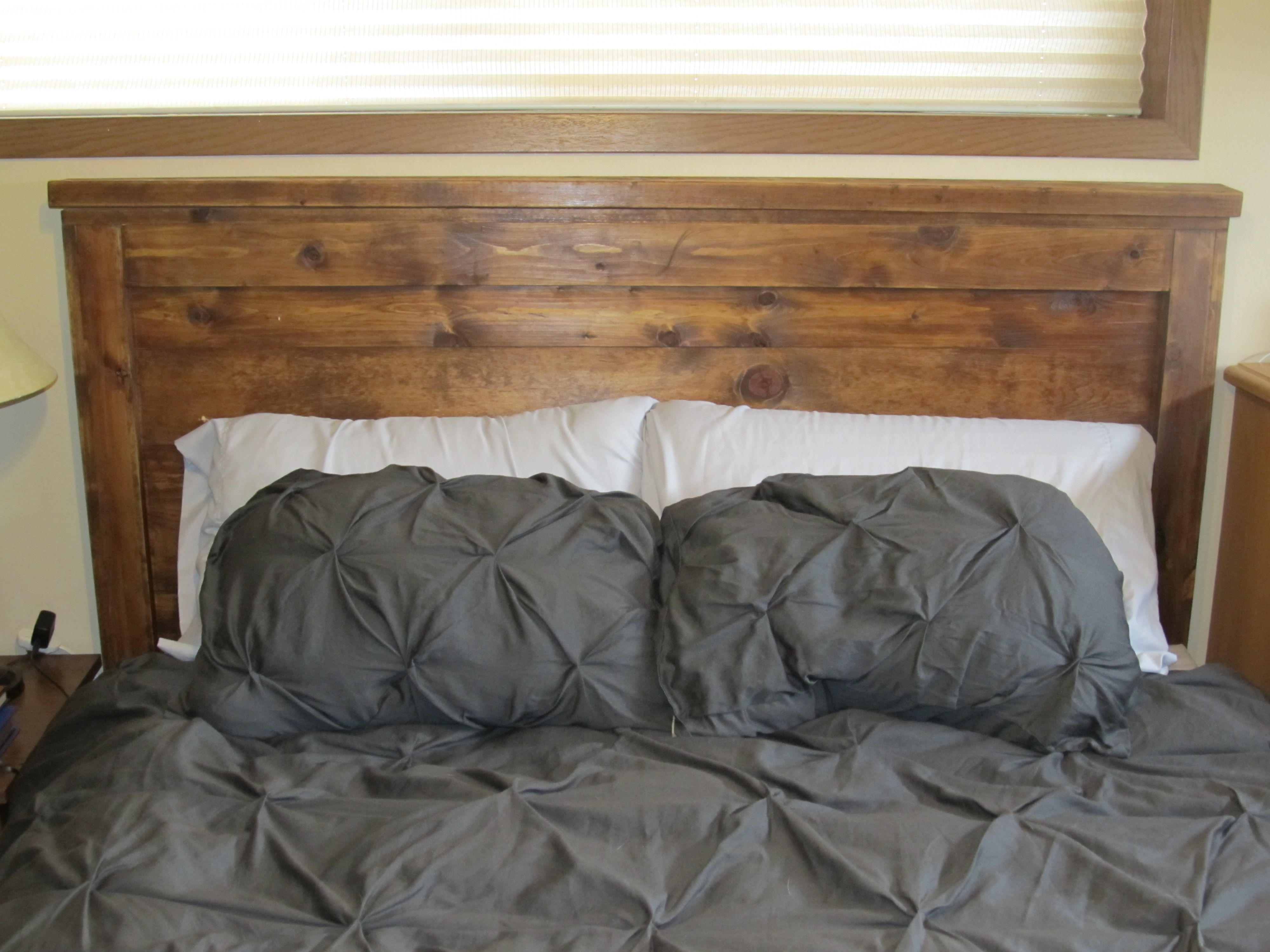 Queen Size Home Bedding Reclaimed Wood Headboard Bed Frame