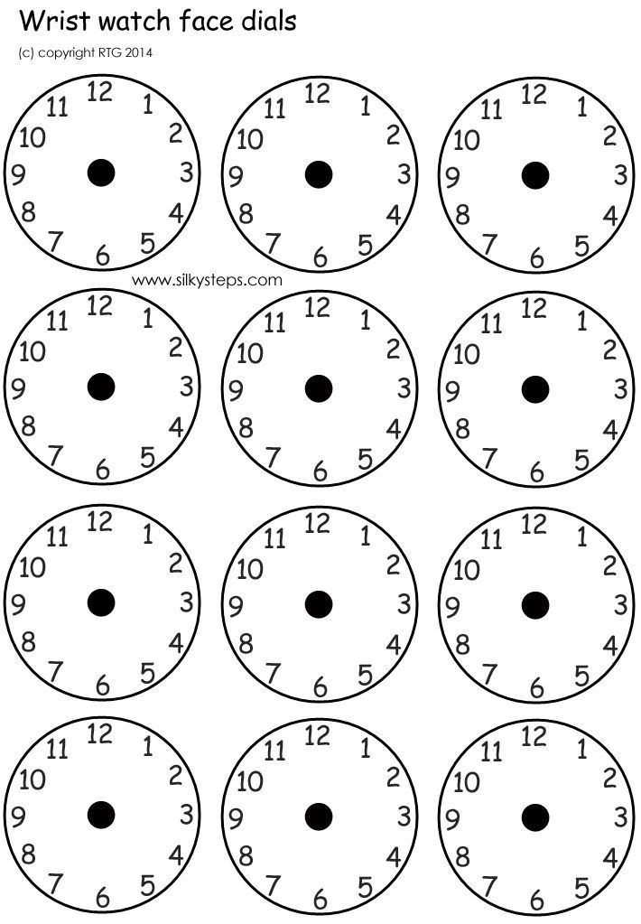 Image result for printable clock faces for crafts