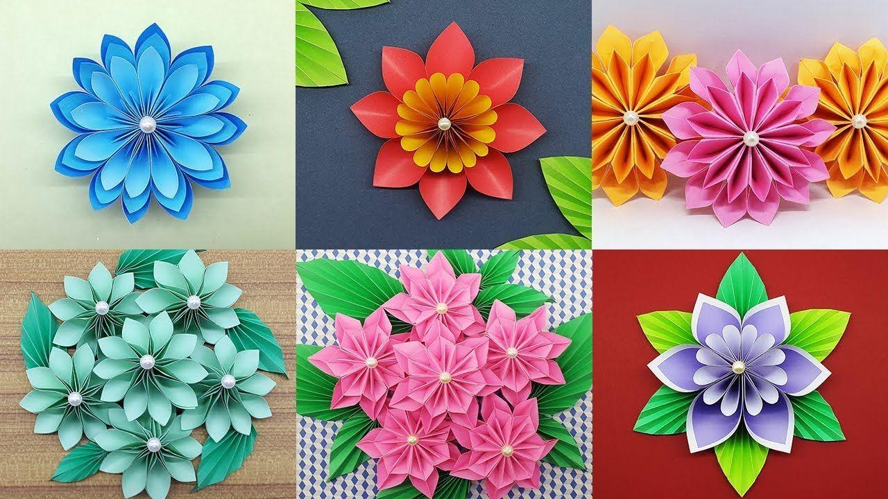 Best 6 Easy Paper Flowers Tutorial Diy Paper Flower Crafts It S