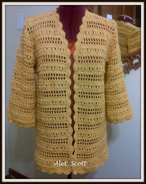 My Autumn Jacket in Elle Elite Cotton. Pattern - Uptown Chic Cardigan designed by Laura Gebhardt