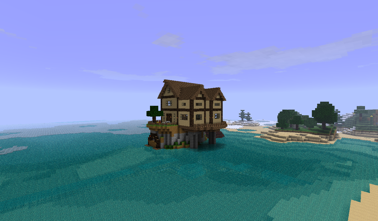 Contact Support Minecraft Beach House Cute Minecraft Houses Forest Cottage