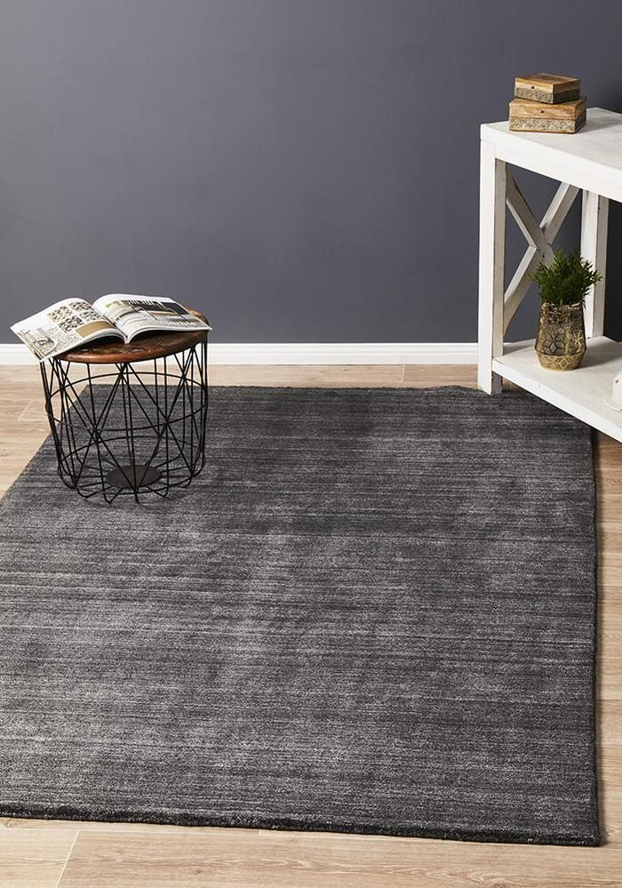 Havana Wool Rug Charcoal Free Delivery Australia Wide