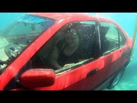 汽車若掉入水里。你只有短短幾分鐘的自救時間!一定要學起來! - YouTube | Car. Vehicles. Survival