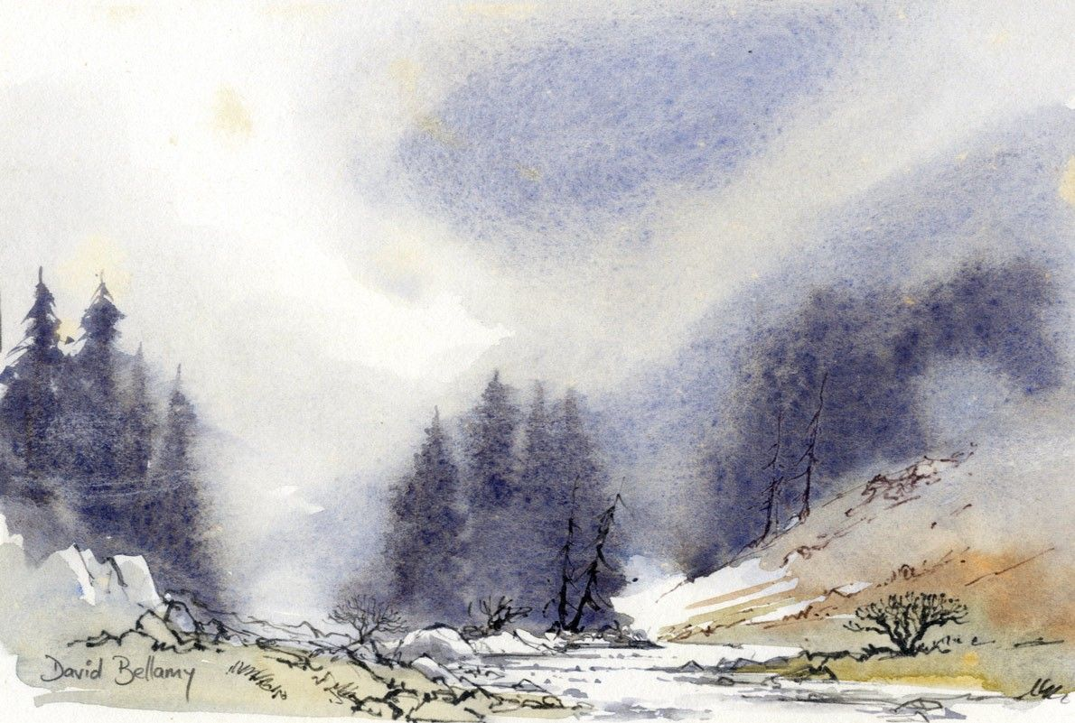 Renew watercolor artist magazine - Buy David Bellamy Contemporary Watercolour Glencoe Art At Sulis Fine Art