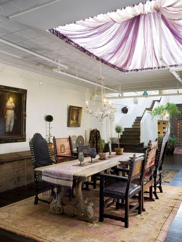 New York City penthouse with a garden paradise   Loft, Salón y ...