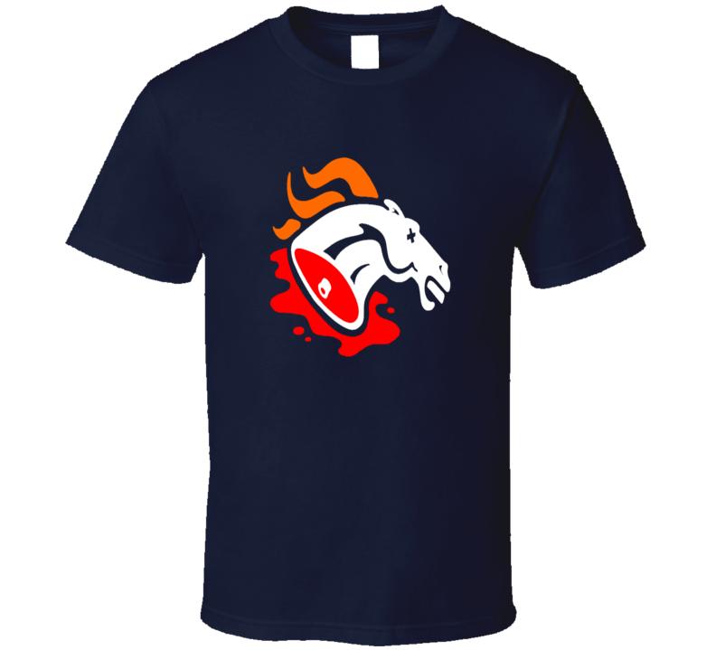 Denver Broncos Haters Parody Logo Dead Horse Head Football