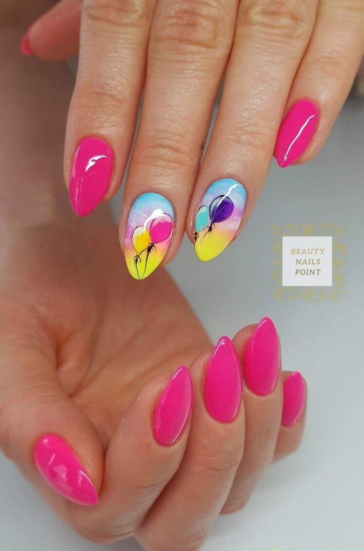 Nail Art 4820 Oval Nails Raspberry Nails Beach Nails