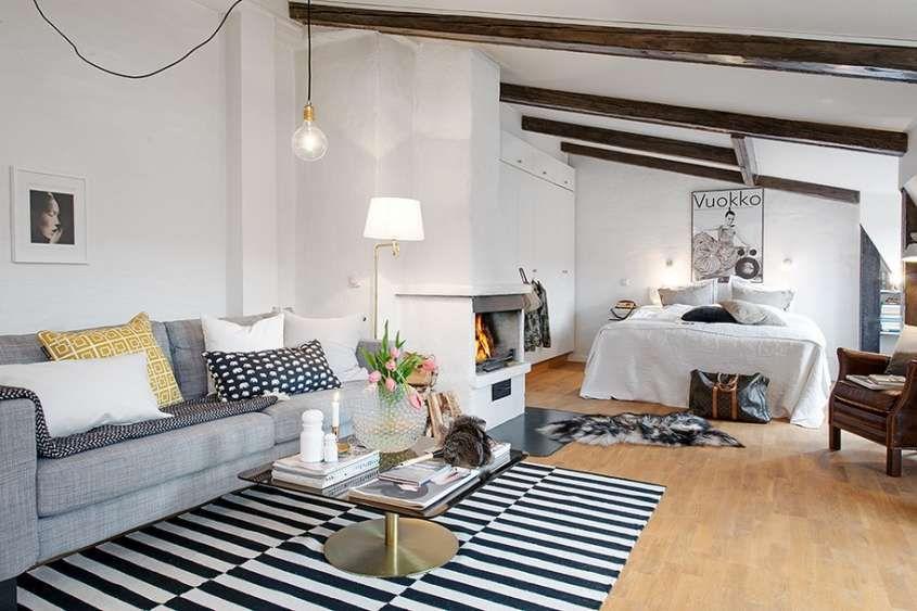 arredare un monolocale di 50 mq mono attic apartment