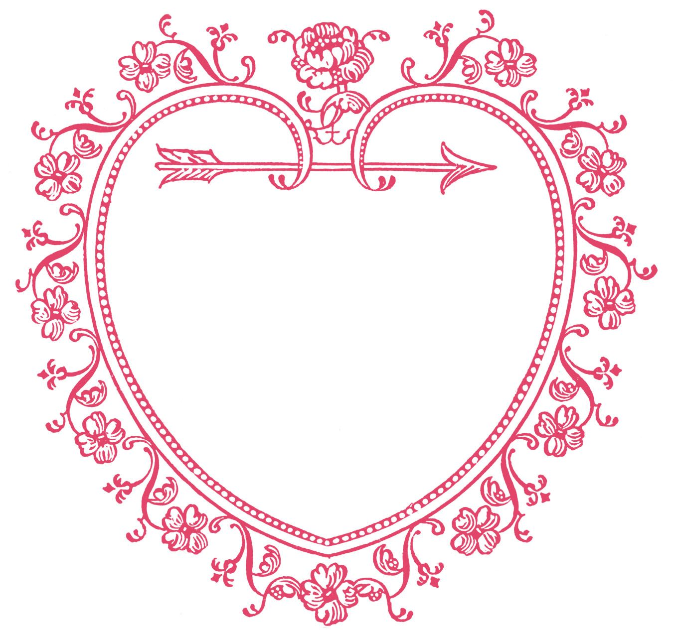the graphics fairy llc vintage valentine s day clip art sweetest heart frame [ 1350 x 1265 Pixel ]