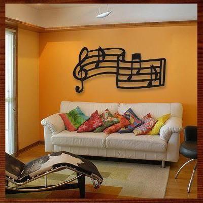 notas musicais em MDF