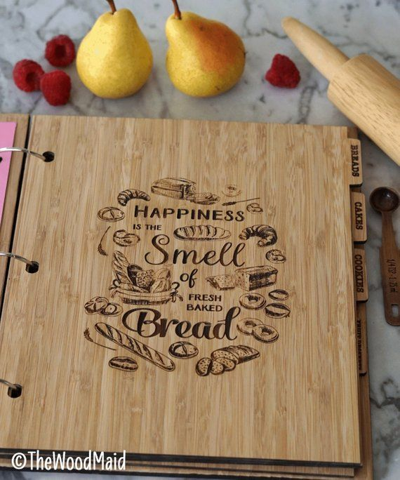 Full page recipe book wooden divider Bread and rolls ...
