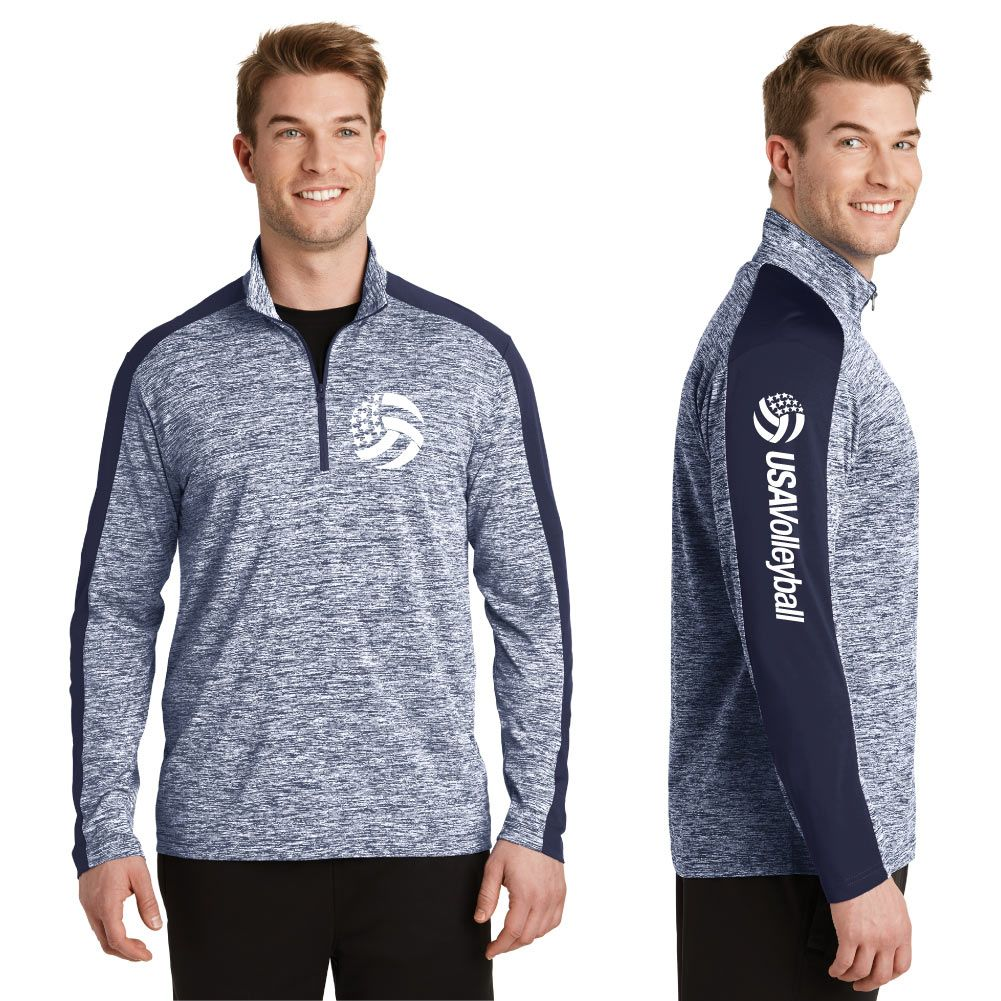 Usa Volleyball Men S 1 4 Zip Usa Volleyball Shop With Images Usa Volleyball Athletic Jacket Volleyball