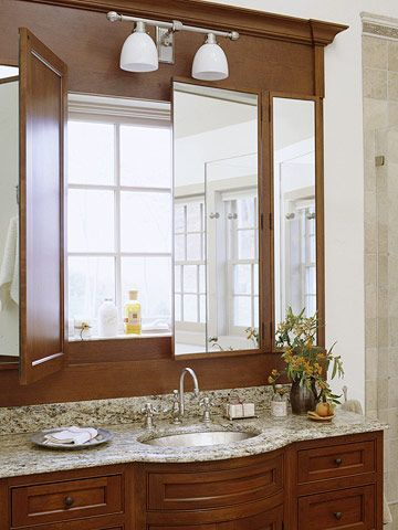 Bathroom Mirrors Over Windows have been in homes where this would be a perfect solution to a