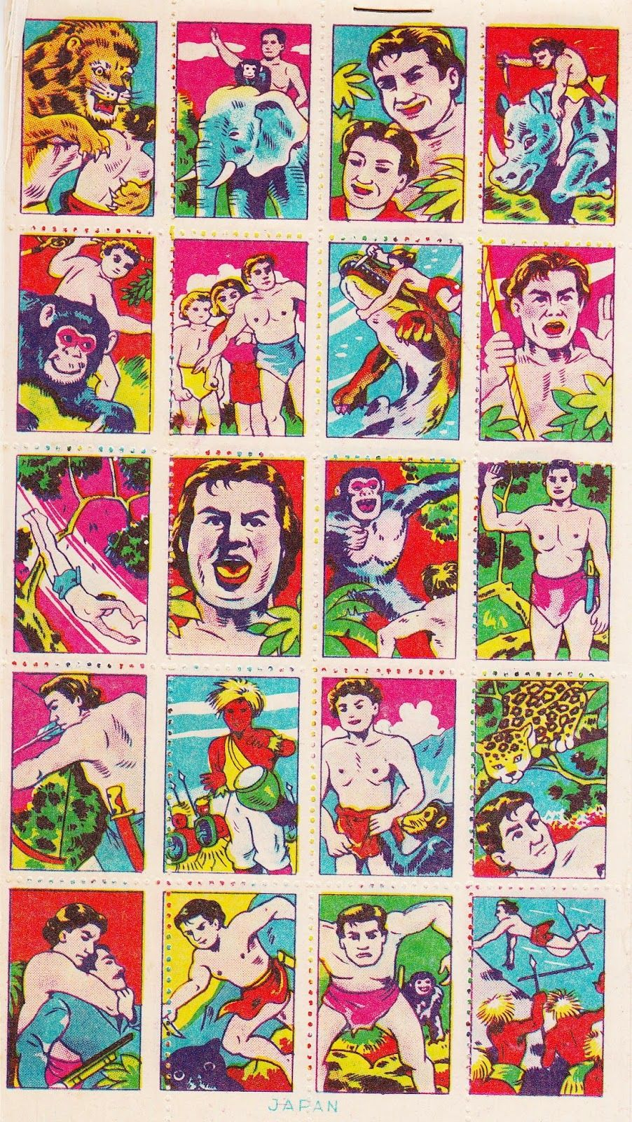 New Forever Stamps! Post-war Japan Transfer Stickers