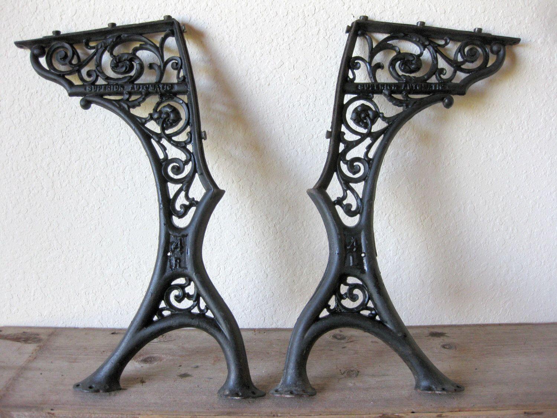 Vintage Superior Automatic Cast Iron School Desk Legs Ornate - Antique Cast Iron School Desk - Best 2000+ Antique Decor Ideas