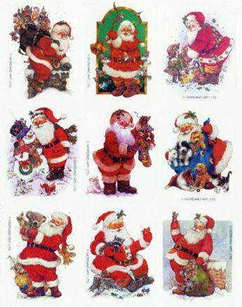 Christmas Eureka Vintage Stickers Excellent!!