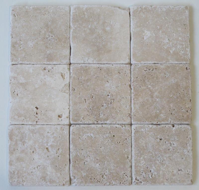 Travertin fliesen getrommelt 10x10 wandfliesen antikmarmor - Bodenfliesen stein ...