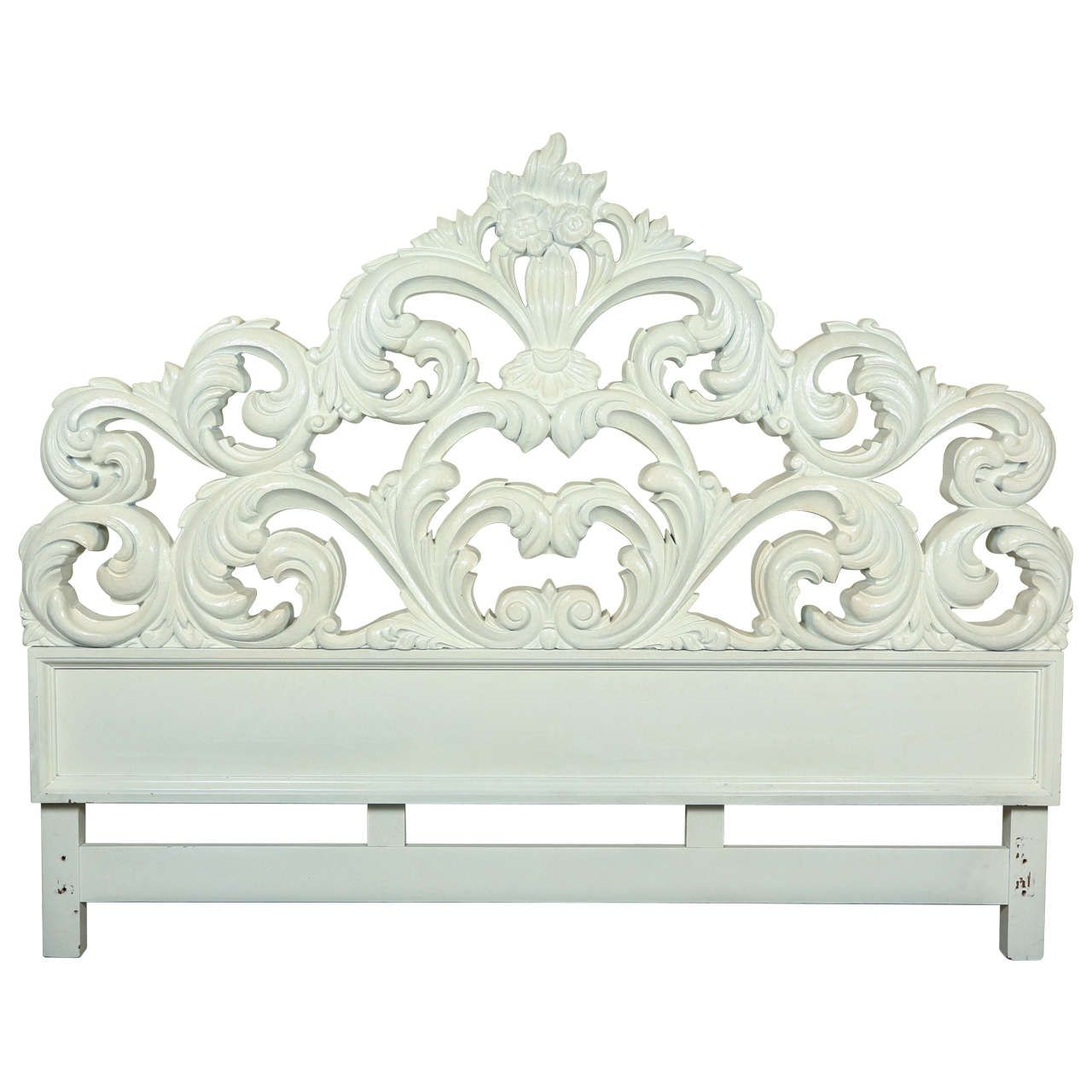 Glamorous Carved Wood Baroque Headboard Wood Headboard Bed
