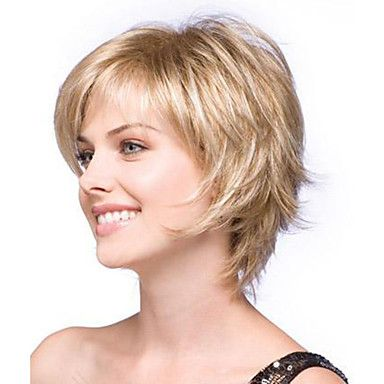 Perruque Synthétique Ondulation Naturelle Style Bob Coupe