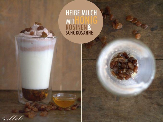 """""""Heißkalter Montag"""" - Heiße Milch mit Honig, Rosinen und Schokosahne"""