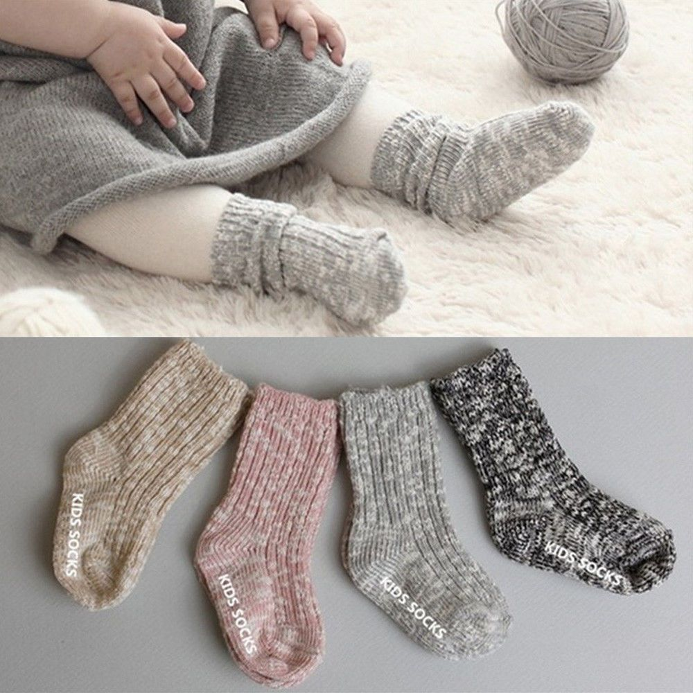 c081414fd35 Winter Baby Girls Socks Warm Non-slip Newborn Toddler Thicken Socks  Accessories  fashion  clothing  shoes  accessories  kidsclothingshoesaccs  ...