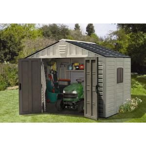 Us Leisure 10 Ft X 8 Ft Keter Stronghold Resin Storage Shed 157479 The Home Depot Storage Shed Shed Resin Sheds