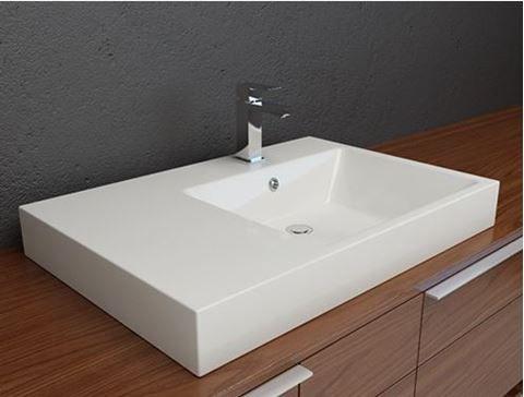 Vitreous China Overmount Bathroom Sink