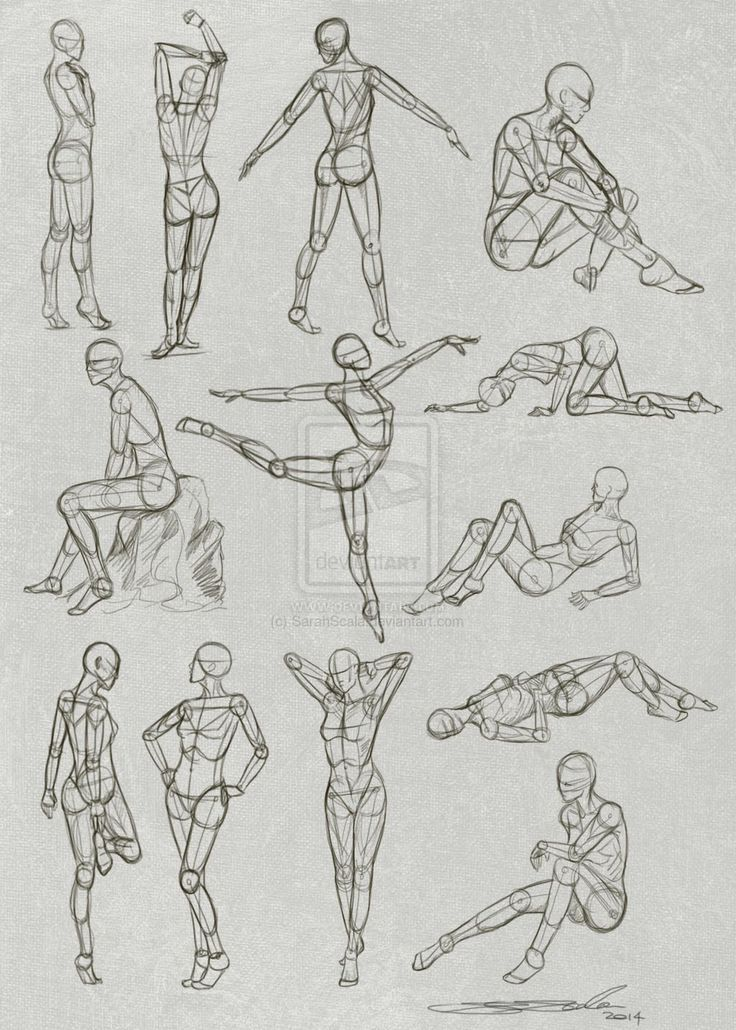 figure #drawing #Pose #Practice #by #SarahScala.devian… #on #@deviantART #-
