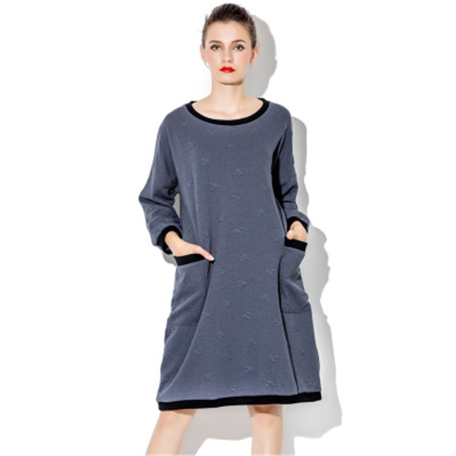 Long pregnant dress for pregnant women maternity clothes winter