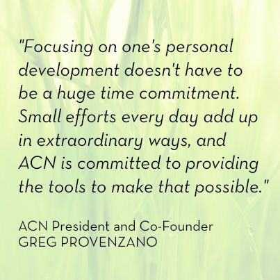 Acn Quote Awesome What A Great Quote From ACN President And CoFounder Greg Provenzano