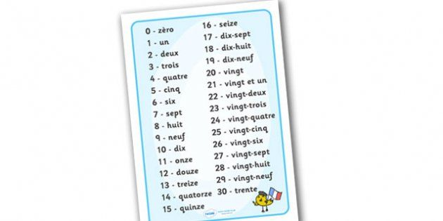 how to write numbers in french