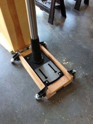 mobile base for a drill pressrob drown -- homemade mobile base