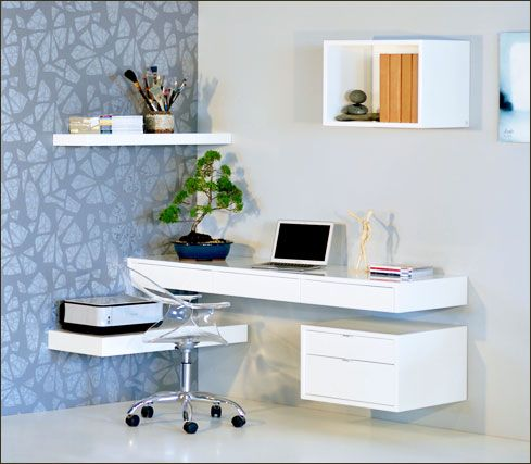 Floating Desks With Drawers Modern Home Office Desk Home