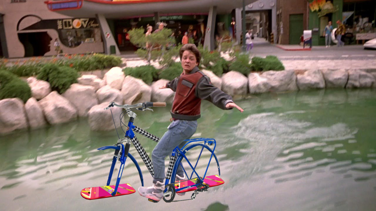 Photoshop Friday: I think every kid in the 80's wanted a hoverboard from Back to the Future II... How about a hoverbike?