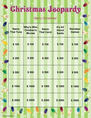 christmas jeopardy christmas activities christmas printables christmas party games for groups holiday party - Christmas Jeopardy