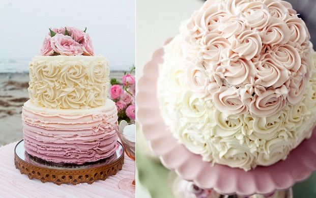 Ercream Roses Wedding Cake By Sugar Muse Bakery Via Style Me Pretty Left And
