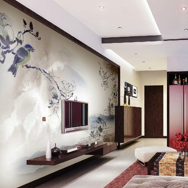 Delicieux Modern Living Room Wall Mounted Entertainment Unit The Beauty Of .