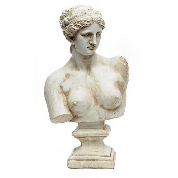 Classic Greek / Roman Nude Female Bust. Authentic looking statue for your garden or home. NEW  FREE DELIVERY #greekstatue