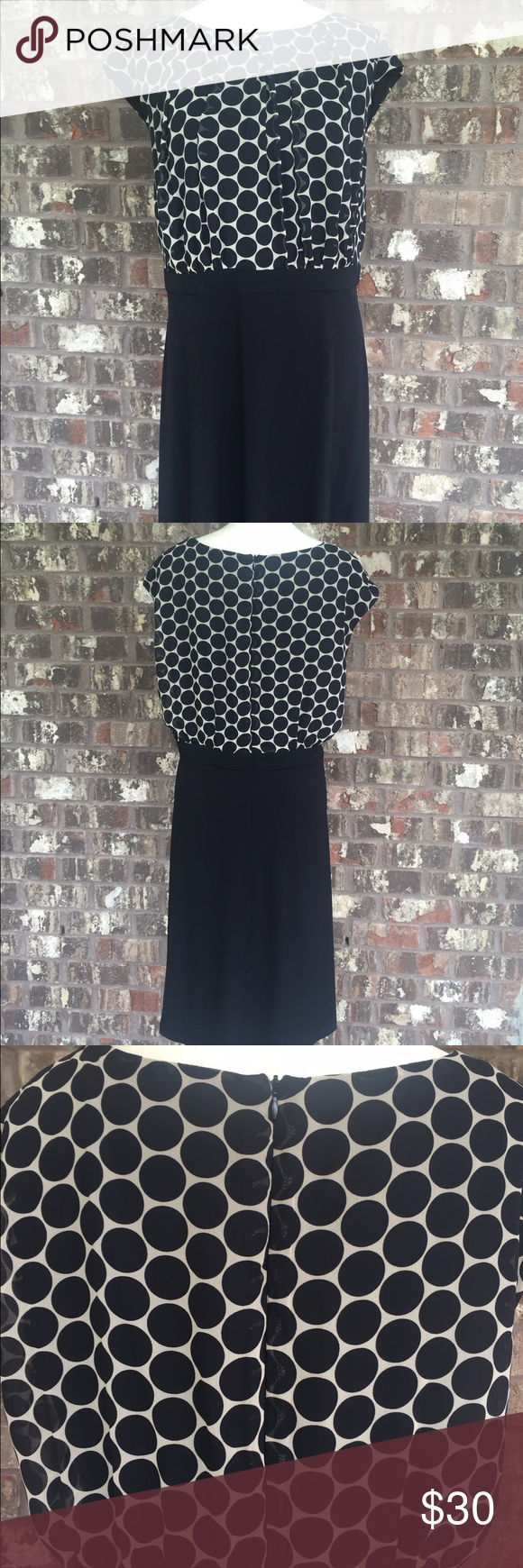 Great black and cream dress from Connected Apparel | Black cream