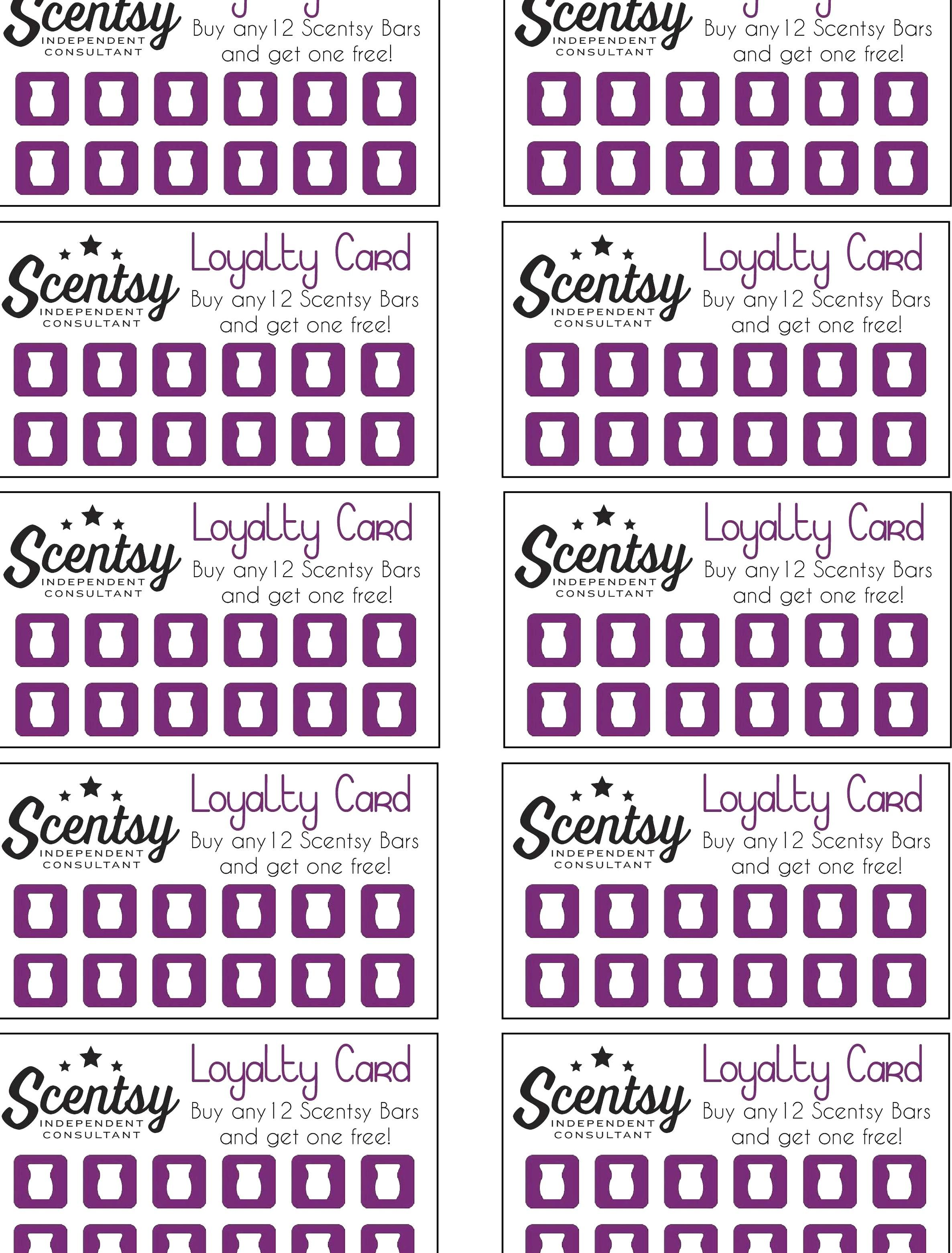 Free Printable Loyalty Card Template Fabulous Scentsy Loyalty Card Pertaining To Custom Loyalty Card Template Business Card Template Psd Business Card Template
