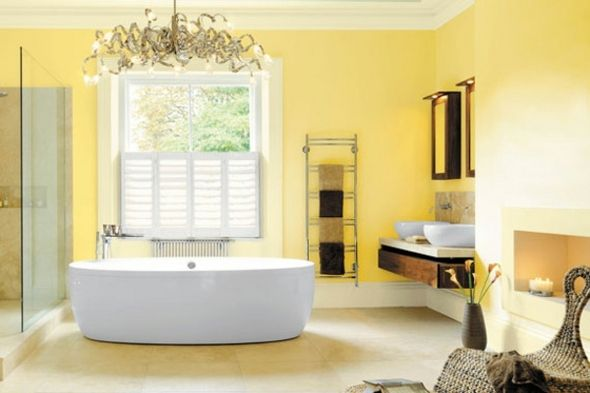 Idée salle de bain - pourquoi pas la déco en jaune | Pinterest ...