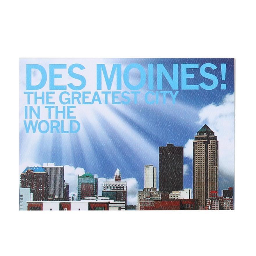 Des moines greatest postcard city prints world